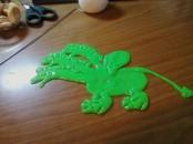 хендгам, жвачка для рук, позитивная игрушка, лепка, дракончик