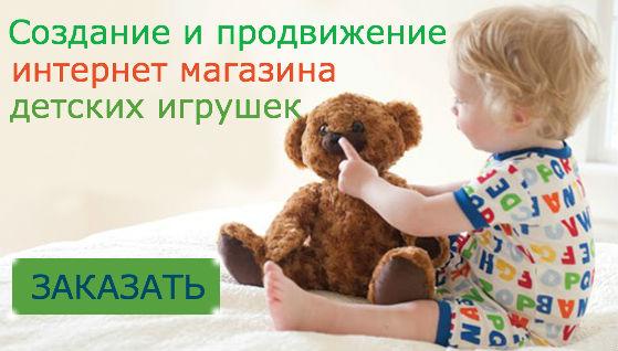 создание и продвижение интернет-магазина детских игрушек