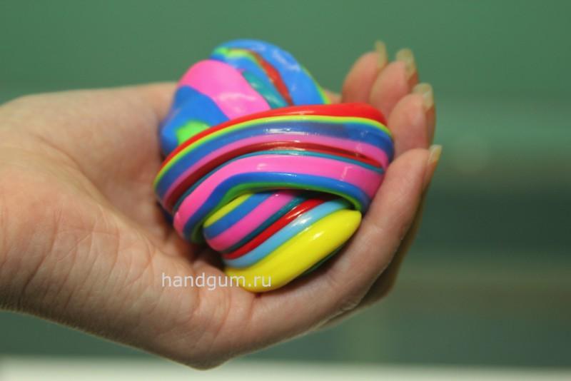 Как сделать мягкой жвачку для рук в 9