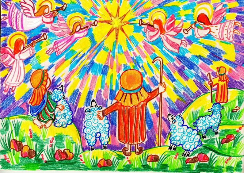 Рисунки к рождеству нарисовать