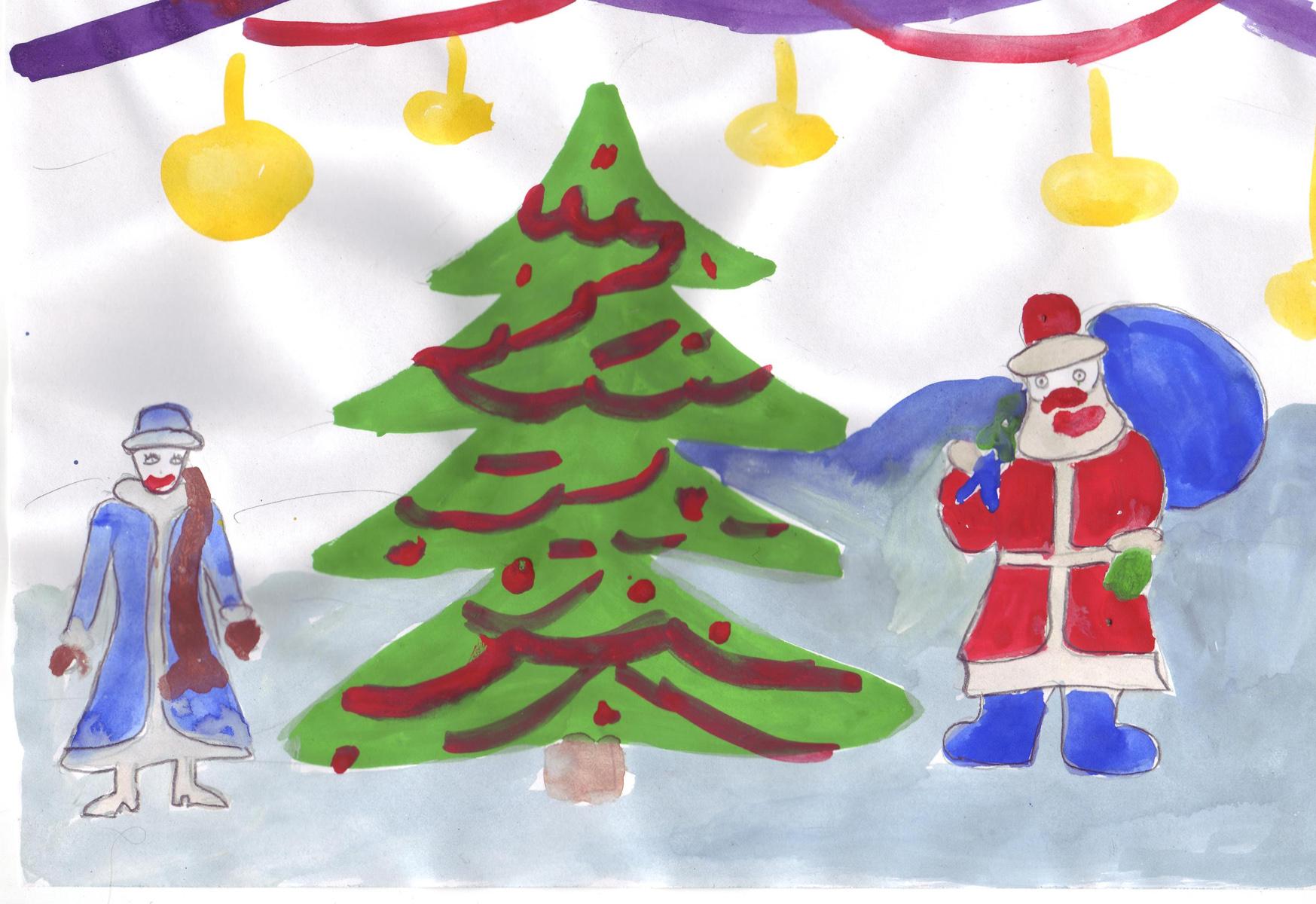 Детский конкурс рисунков я и новый год