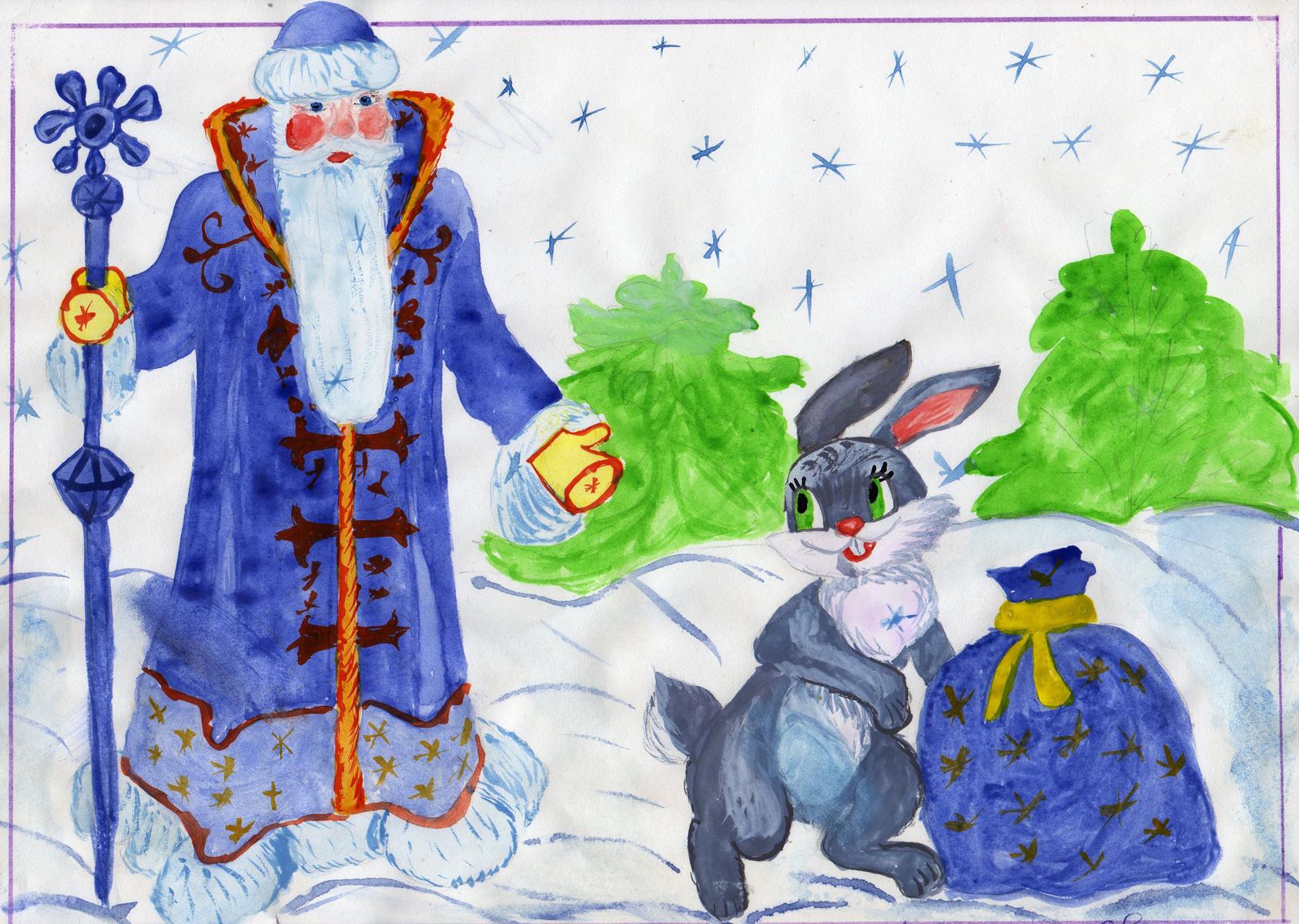 Рисунки на тему детский новый год